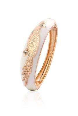 Just Women White Metal  Embossed Bracelet