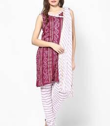 Buy Magenta Cotton Dress Material dress-material online