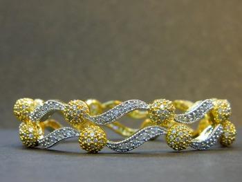 Dazzling stone studded bangles