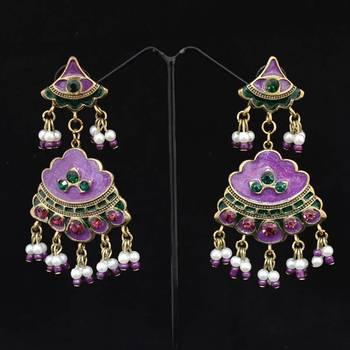 Purple Fashion Danglers