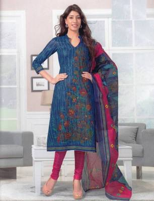 Dress material cotton designer prints unstitched salwar kameez suit d.no SG406