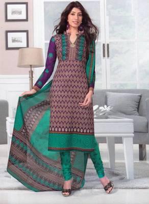 Dress material cotton designer prints unstitched salwar kameez suit d.no SG408