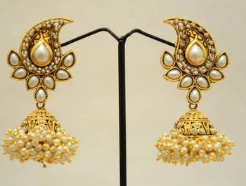 Adorable Ambi with pearls & jhumka