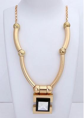 golden plain necklaces