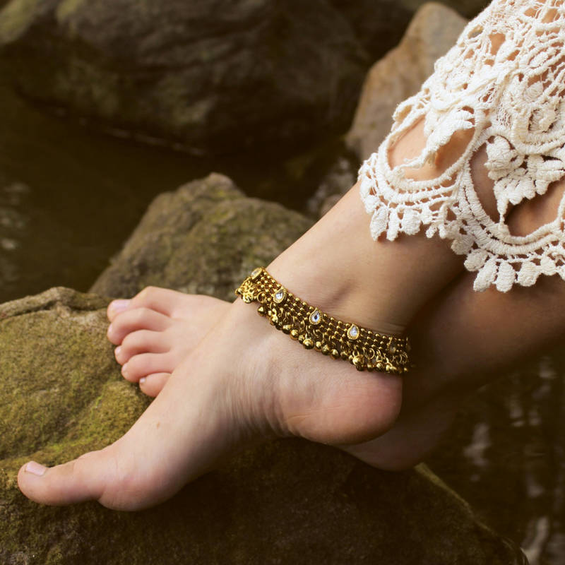 on delicate and gifts akhilabobby bracelet gold anklets beaded best jewelry anklet images pinterest chain