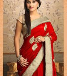 Buy  Gorgeous New Attractive Red Designer Saree designer-embroidered-saree online