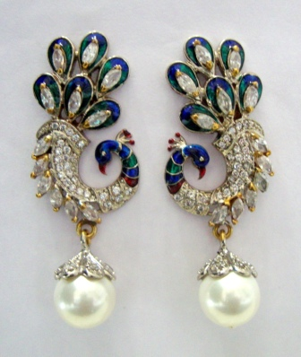 Buy Beautiful Stone Studded Peacock Design Hangings In