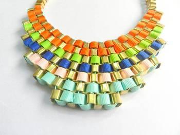 Ribbon Weave Choker Necklace