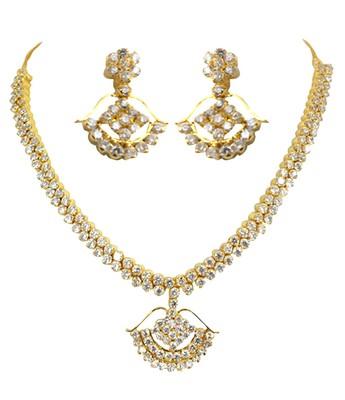 A.D Zercon Necklace Set
