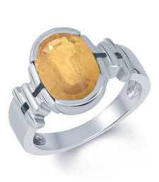 Buy 5.2ct Yellow Sapphire gemstone rings astrology-ring online