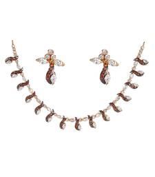 Buy Silver Cubic Zirconia gemstone necklaces gemstone-necklace online