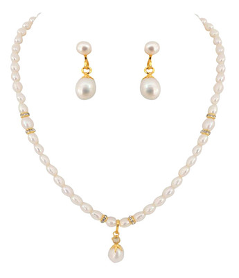 Kalki Fresh Water Pearl Necklace Set