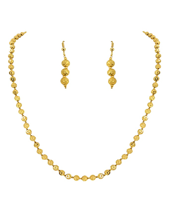 One Gram Gold Plated Small Size Necklace Set