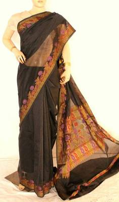 Supernet Cotton silk banarasi saree