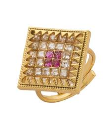 Buy Gold stone rings Ring online
