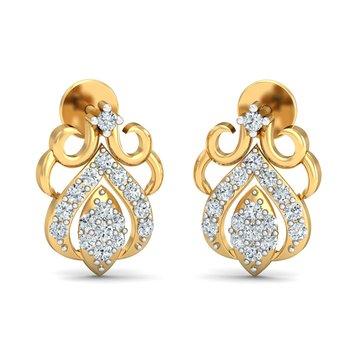 0.29ct diamond studs 18kt gold earrings