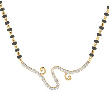 0.24ct diamond 18kt gold mangalsutra