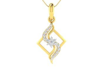 0.18ct diamond 18kt gold pendants