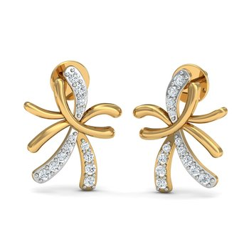 0.14ct diamond studs 18kt gold earrings