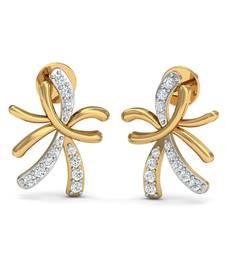 Buy 0.14ct diamond studs 18kt gold earrings gemstone-earring online