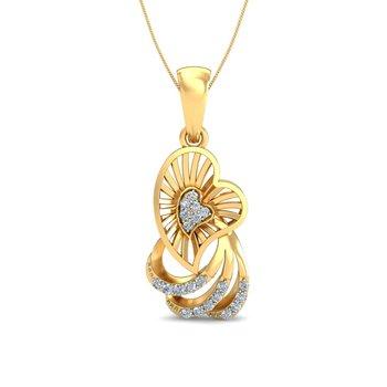 0.11ct diamond 18kt gold pendants