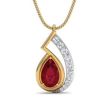 0.16 diamond 18kt gold pendants