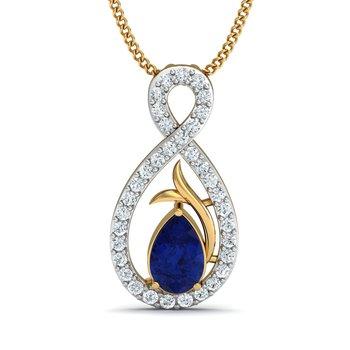 0.19 diamond 18kt gold pendants