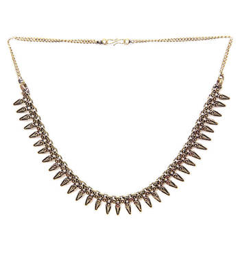Gold Leaves Spikes Necklace