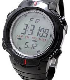 Buy Black colour Rubber strap sports watch arrival for Boy's  and girl's watch online