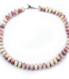 Buy   Cherry blossom dyed quartzite gemstone beads necklace gemstone-necklace online