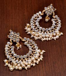 Buy Baby Pearls and Kundan Embellished Dangler Earrings 217EDS49 black-friday-deal-sale online