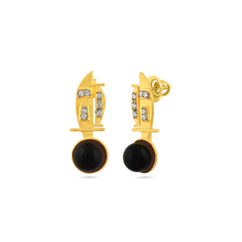 0.35ct cubic zirconia Semi precious gemstone-earrings