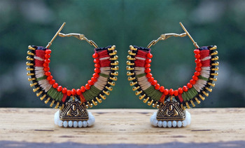 Gorgeous Tricolor jhumka