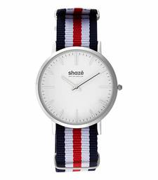 Buy Shaze Sins Classic Blue White And Red Analog Watch For Men watch online