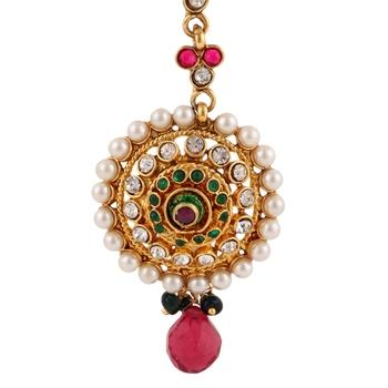 Pearl bridal maang tikka for wedding mang tika girls jewellery