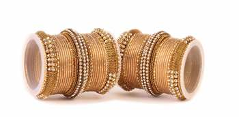 Gold Kundan bangles and bracelets