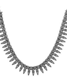 Buy Sizzling Silver plated oxidised necklace Necklace online