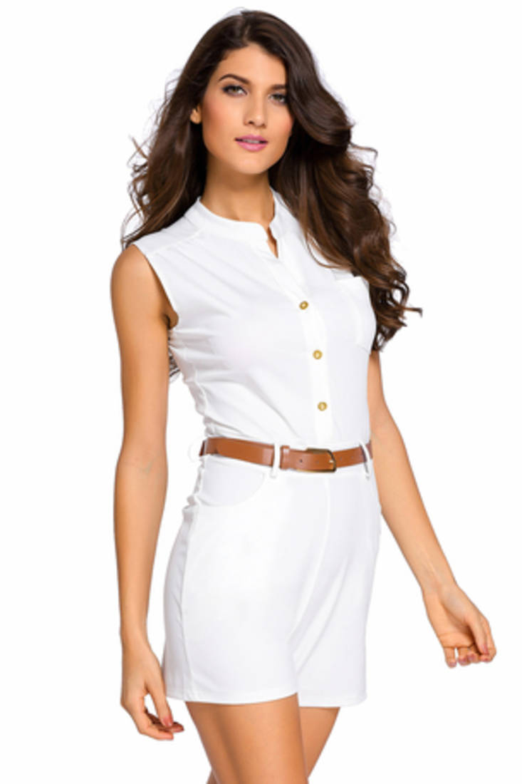 Buy White Polyester And Spandex Sexy Western Wear Online-3446