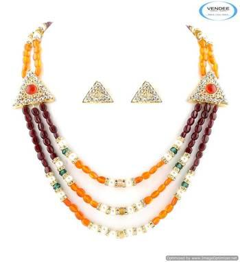 Vendee Funky multi color necklace jewelry 5014