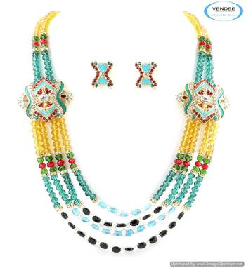 Vendee Fashion designer crystal & Beads necklace jewelry 5016