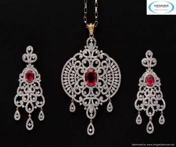 Vendee Awesome fashion designer diamond pendant sets 5295