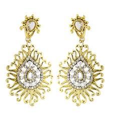 Buy Gold Zircon Chandelier Earring Online