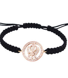 Buy Khanda 14k Gold Bracelet in 18mm charm diameter with Diamonds of 0.30 carats on adjustable nylon thread gemstone-bracelet online
