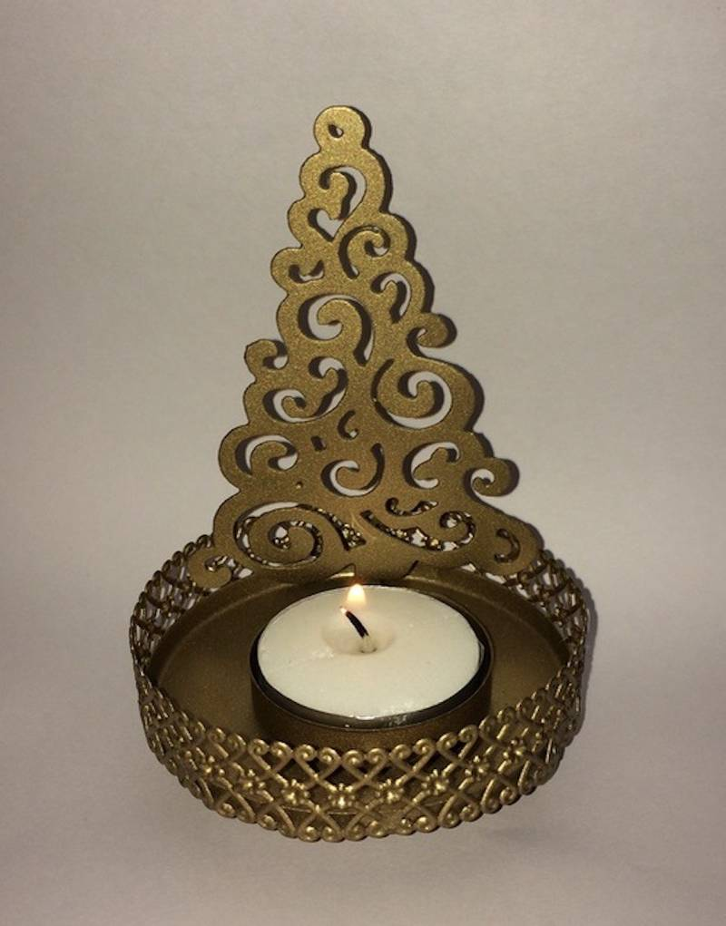 Buy Christmas Decorations Tree Shaped Candle T Light Holder Online