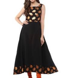 Buy Black Crepe printed kurti pakistani-kurtis online