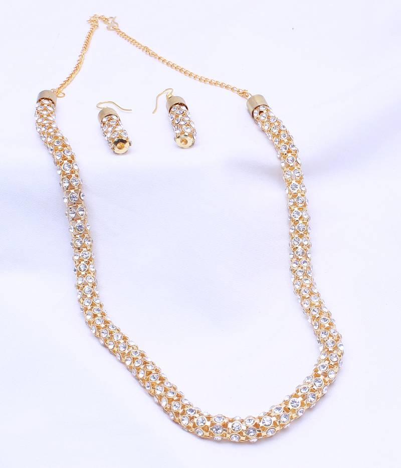 Buy Antique Gold Plated Designer Necklace Set for Womens Online