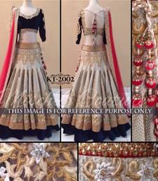Buy Multicolor embroidered banarasi unstitched lehenga bridal-lehenga online