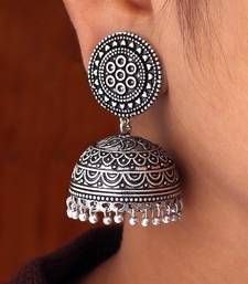 Buy Hot Sales Amazing New Look Handmade Oxidised Silver Tone Jhumka Earrings hot-deal online