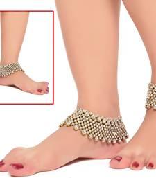 Buy Design Austrian Stone Work Fashinable Bridal Wear Payal anklet online