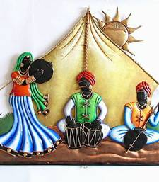 Buy Rajasthani Troupe under Tent wall-hanging online